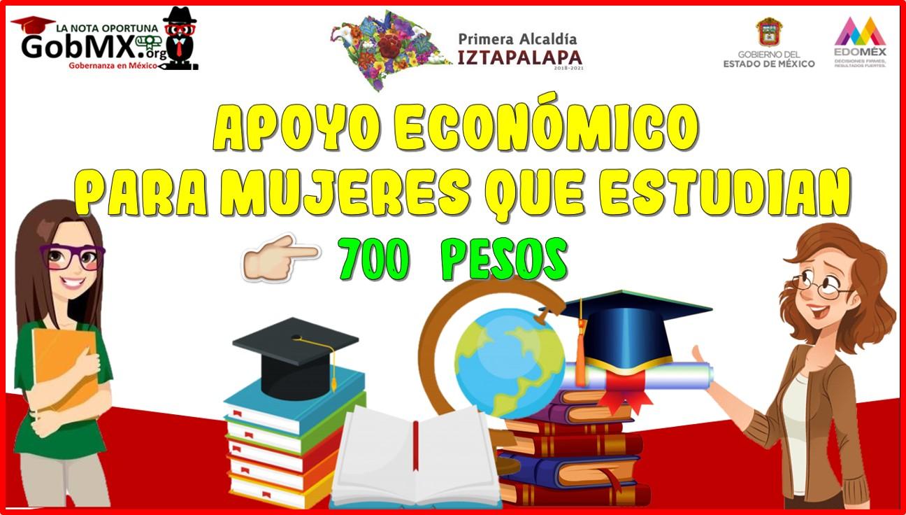 Apoyo económico de hasta 700 pesos: para mujeres que estudian.