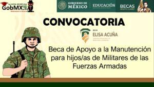 Beca de Apoyo a la Manutención para hijos/as de Militares de las Fuerzas Armadas 2021