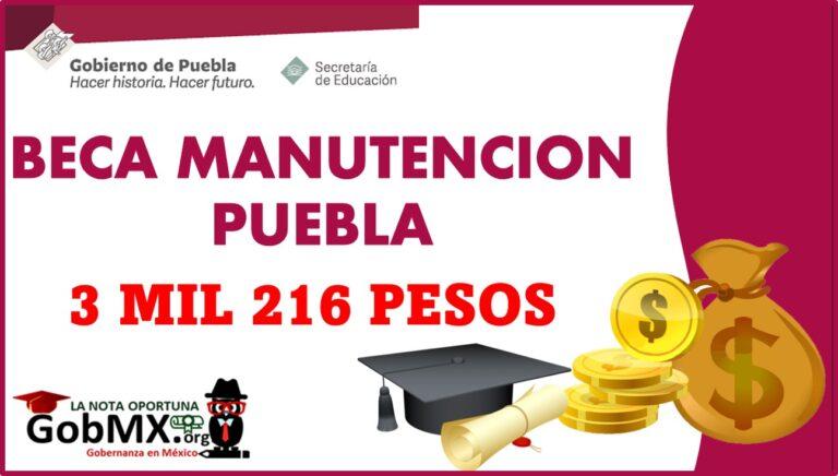 Beca de Manutención Puebla 2021-2022