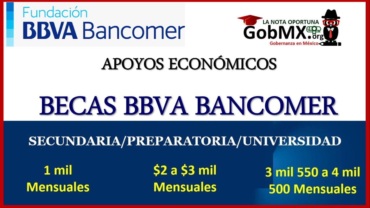 Becas BBVA Bancomer: Secundaria, Preparatoria y Universidad