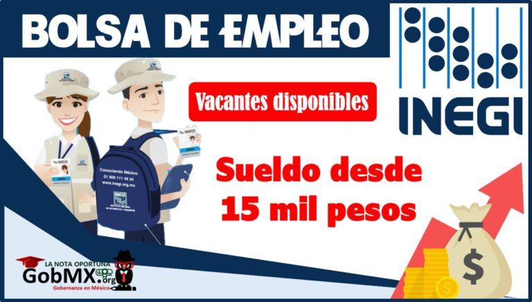 Bolsa de trabajo: INEGI 2022-2023
