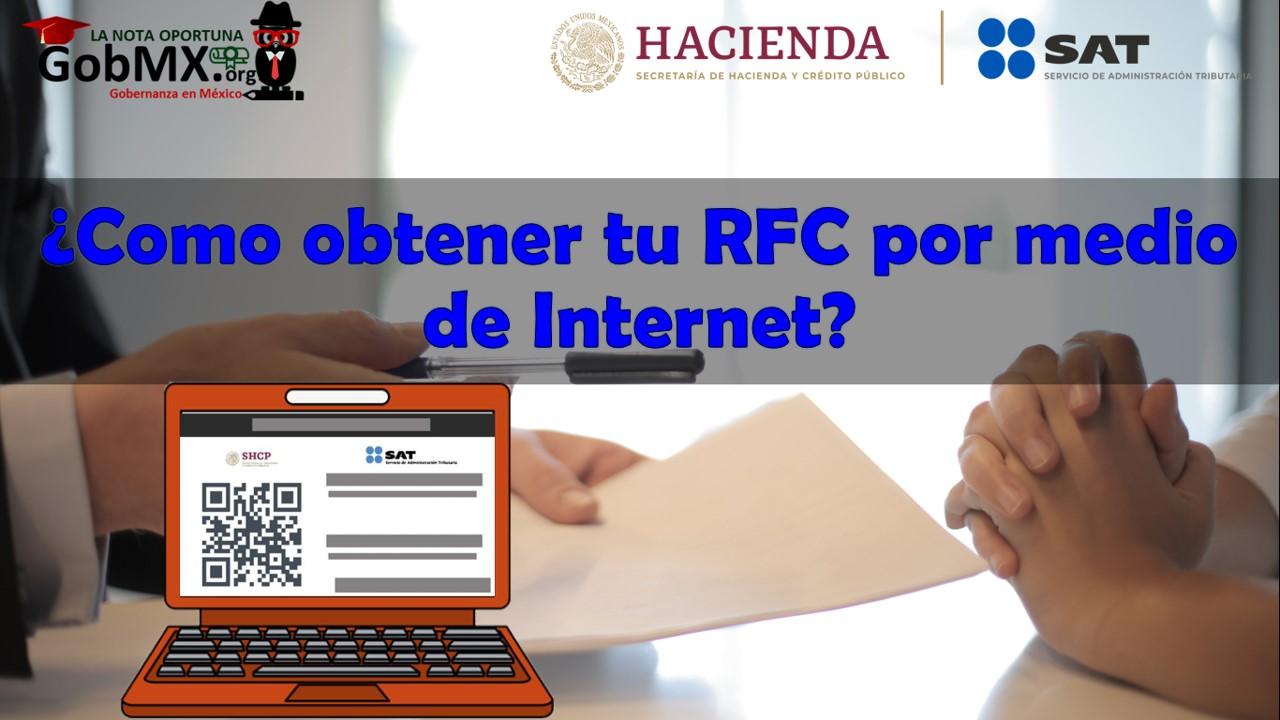 ¿Cómo obtener tu RFC por medio de Internet?