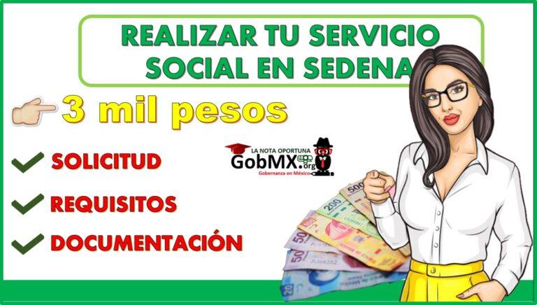 Obtén hasta 3 mil pesos por realizar tu servicio social en Sedena