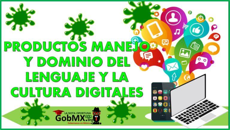 Productos Manejo y dominio del lenguaje y la cultura digitales