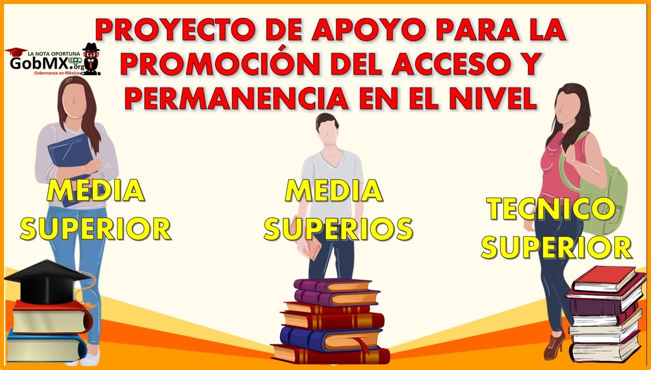 Proyecto de Apoyo para la promoción del acceso y permanencia en el nivel MS, SUP y TSU 2021-2022