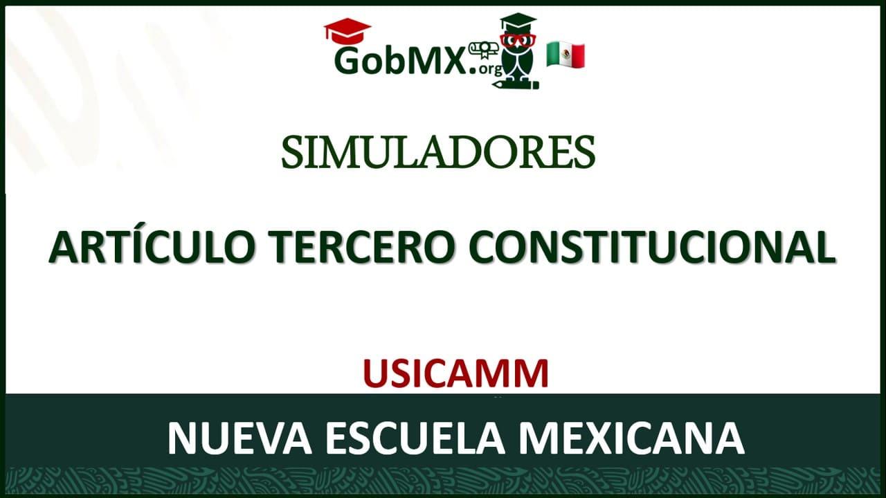 Simuladores Artículo Tercero Constitucional
