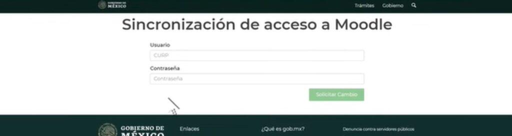 sincronización de acceso a moodle nueva escuela mexicana