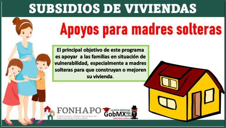 Subsidios de viviendas: Apoyos para madres solteras
